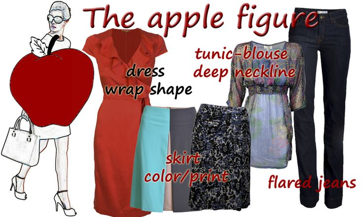 clothes for apple shaped women | The Apple Shape. How to Dress. - Stylish Garderobe