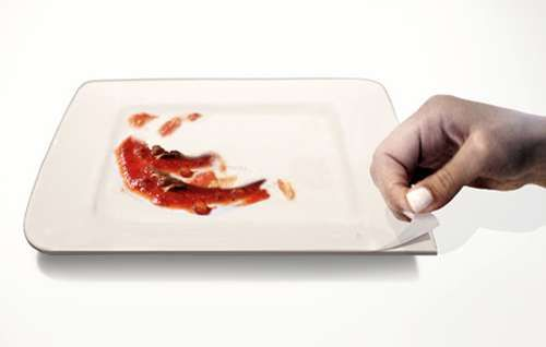 The Plate-Oh! Concept Offers 10 Uses and No Need to Wash Dishes #dinnerware #entertaining trendhunter.com
