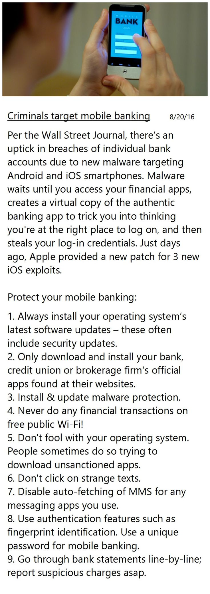 Mobile banking risks on the rise 9 ways to protect your money in our