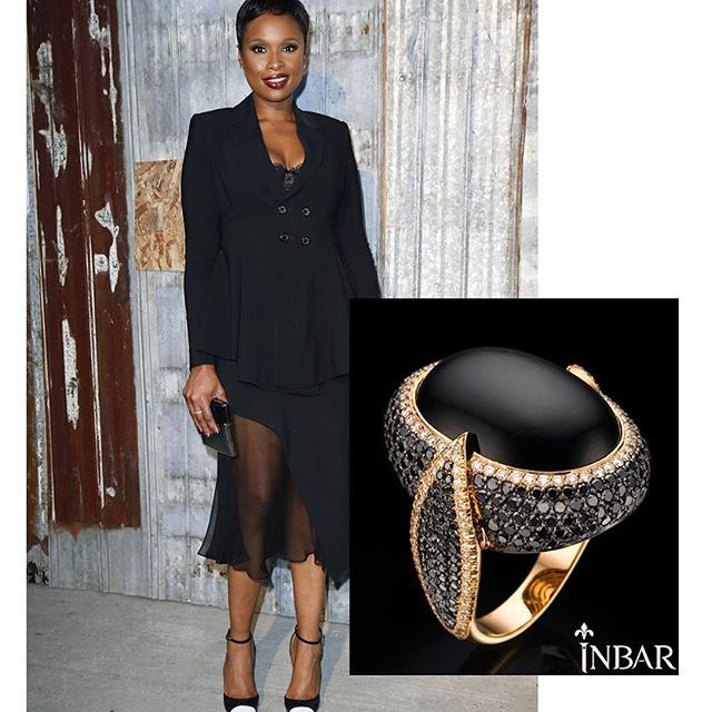 WEBSTA @ inbarjewellery - Just a thought...Dear Jennifer Hudson,Your look is flawless. Though perhaps this could be missing from it...? 😉Cabochon black sapphire ring with black diamonds in gold.#justathought#jewelrygram#jenniferhudson#statement@iamjhud#ladieswhoshine#sundayfun#lovewhatyouwear#ootd#luxury#fashion