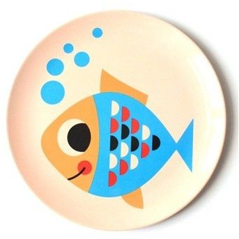 we got all types of animals beloved by children on our melamine plates and this nice fish is one of them.