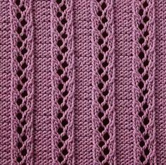 "Ladder to The Sky knit stitch - this website is filled with ""how to's"" for knitting various stitches. Amazing!"