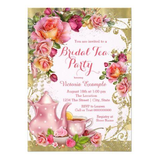 Best Tea Party Birthday Invitations Images On Pinterest - Birthday invitation zazzle