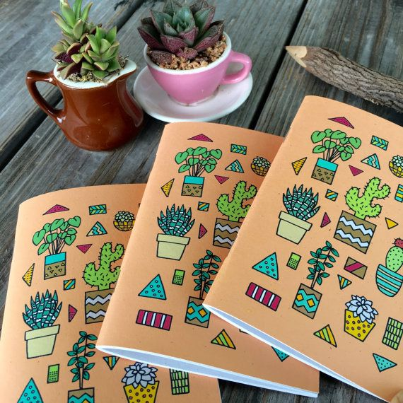 Small Cactus Notebook Set by ChampaignPaper