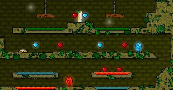 Fireboy & Watergirl 1 Forest Temple - Cool Math Games