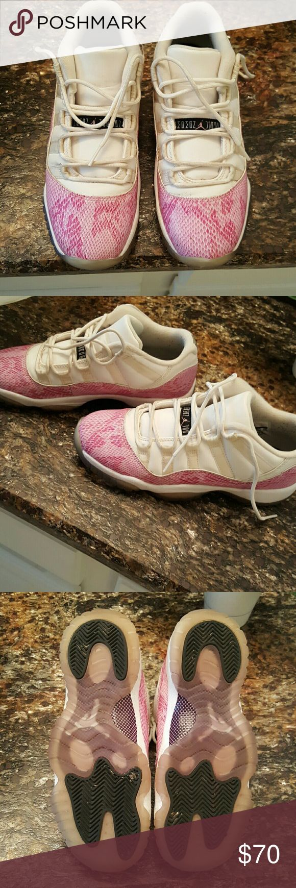 Youth Nike basketball shoes Authentic pink snakeskin Jordan 11s. Great used condition. Rare sneaker!! Nike  Shoes Sneakers