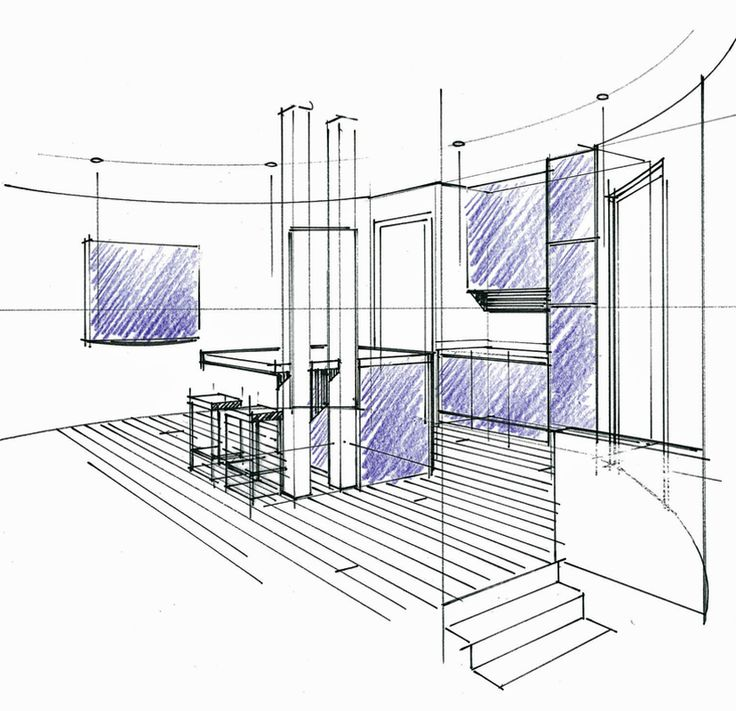1000 id es sur le th me dessin en perspective sur for Dessin architecture interieur