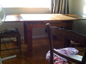 Oak table and a couple of Dining chairs