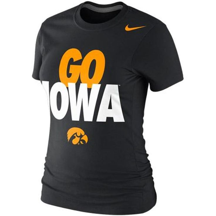 Nike iowa hawkeyes women 39 s black local slim fit t shirt for Iowa hawkeye t shirt