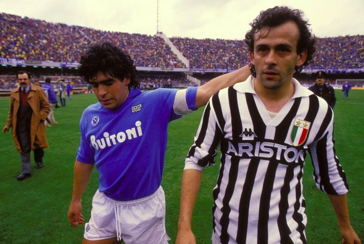 Legends - Maradona and Platini