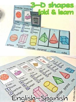 3D shapes Fold and Learn English-Spanish Not sure if you still need shape stuff MB but thought this is best review!