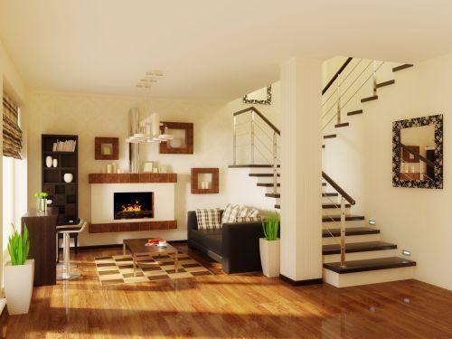 Znalezione obrazy dla zapytania schody w salonie