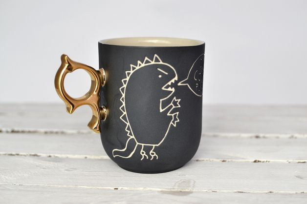 via en.dawanda.com Mugs – Big Cup - Monster Matthew – a unique product by coco_ceramics on DaWanda