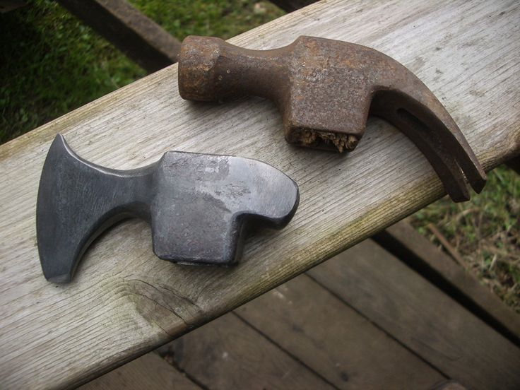 HammerAxe 1 | Hand Forged Knives - great idea for axes