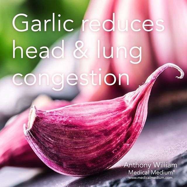 Garlic reduces head & lung congestion  Learn more about the healing powers of garlic in Life-Changing Foods, link in profile