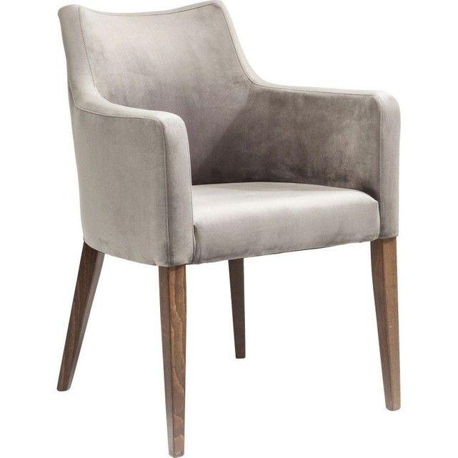 Chaise Avec Accoudoirs Mode Velours Grise Kare Design Gris Kare Design La Redoute Chaise Accoudoir Chaise De Salle A Manger Fauteuil Design