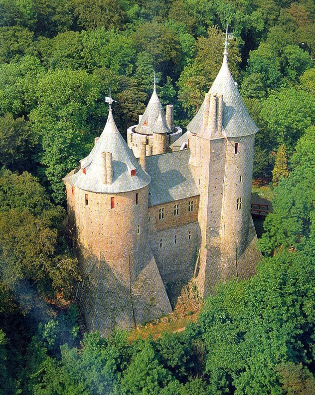 Castell Coch (Red Castle) Tongwynlais, near Cardiff, Wales