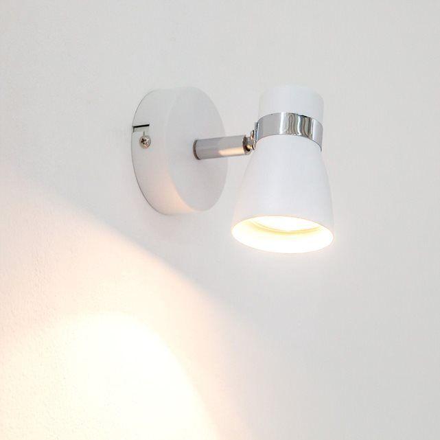 Applique blanche Arjen LED GU10 LAMPENWELT : prix, avis & notation, livraison.  L?applique Arjen est un luminaire élégant pour les intérieurs modernes. L?abat-jour et la structure sont en métal blanc, et sont complétés par un élément chromé. Coloris : blanc, aspect chroméMatériau : métalTempérature de couleur: : blanc chaud (2 700 K)Largeur : 8 cmHauteur : 11 cmProfondeur :...