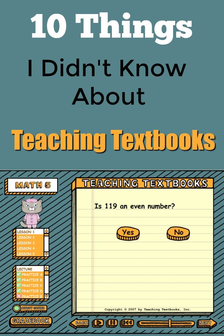 10 Things I didn't know about Teaching Textbooks