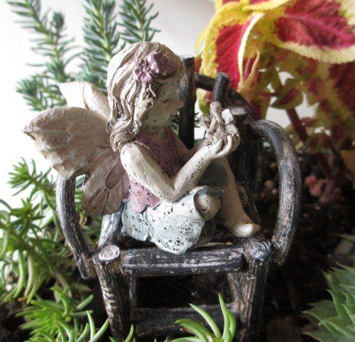 Amazon.com: Sitting Fairy · Fairy FigurinesFairy GardeningMiniature ...