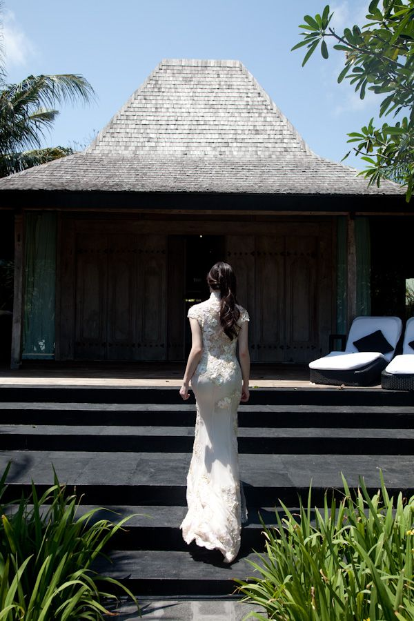 Fabulous Wish the website had the name of the dress designer Samuel Lippke Bali Cheongsam WeddingBali WeddingChinese