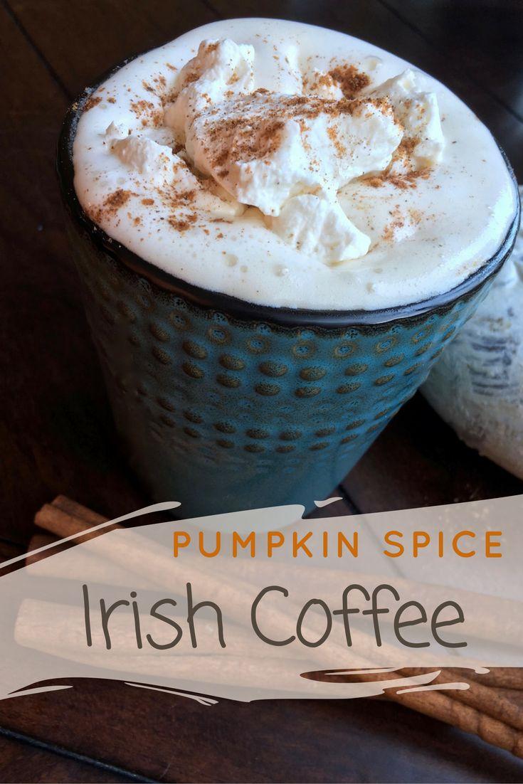 Pumpkin Spice Irish Coffee with Homemade Whipped Cream