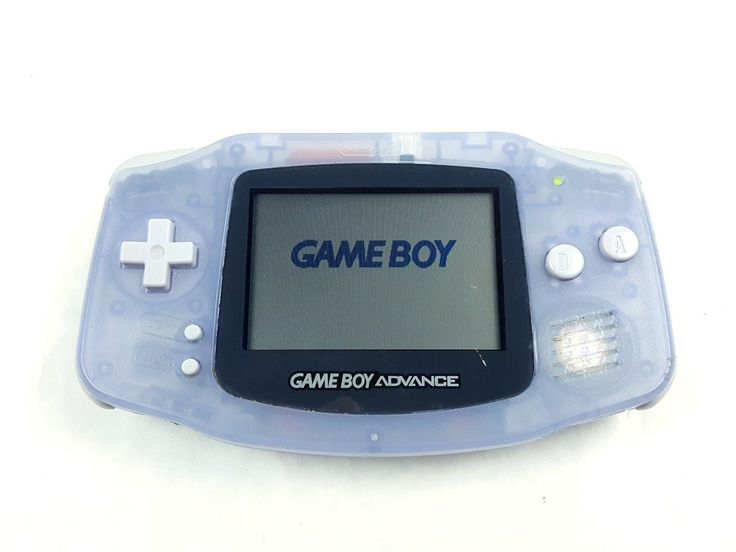 UncleZekes.com - Nintendo Game Boy Advance Handheld GBA Glacier Clear AGB-001