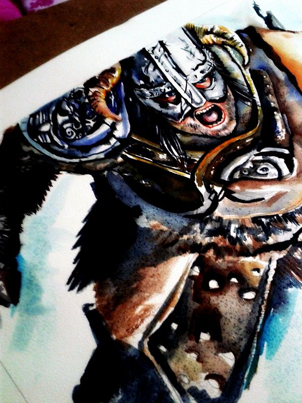 #skyrim #game #charecter #watercolor