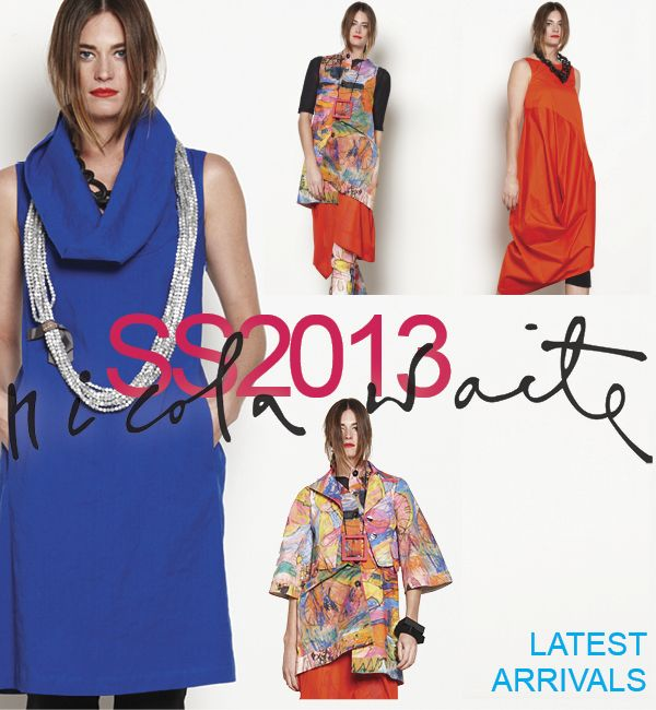 New Arrivals. Colour, colour and more colour! Bolts of tangerine, cobalt and hot pink are fabulous! Mix them with our fun stickman print on a great stretch cotton - featuring the narrow pant, back button tunic (can also be turned around as a vest) and the NEW pocket jacket.  Sizes 8-22 Made in Australia