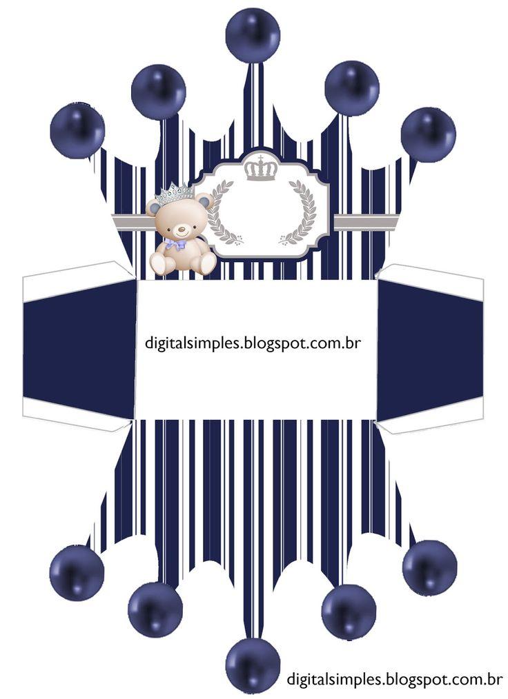 Bear Prince: Free Printable Crown Box.