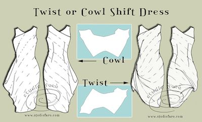 Twist and Cowl Drape Patterns