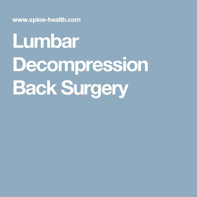 Lumbar Decompression Back Surgery