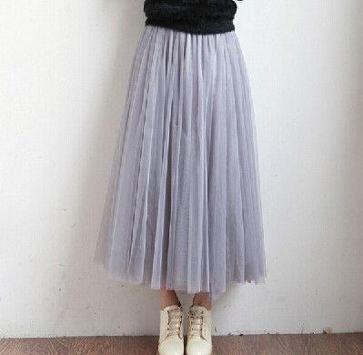 Tulle Midi Long Tutu Skirt