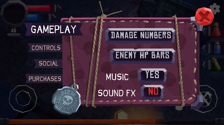 UI for the new RPG mobile game project by Nox.us.