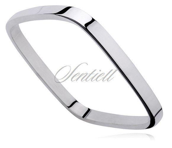 Bransoletka srebrna pr.925 kwadratowa (bangiel) - Biżuteria srebrna dla każdego tania w sklepie internetowym Rejel
