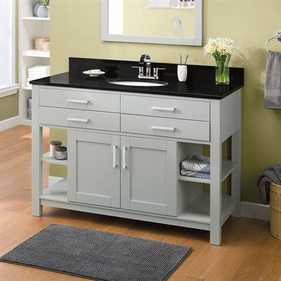Photo Of allen roth Chanceport Specialty Grey Transitional Bathroom Vanity in x in