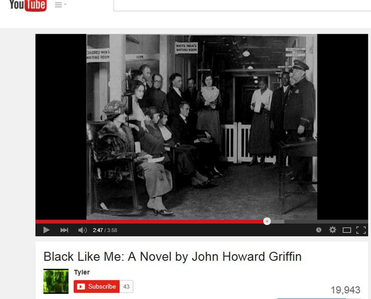a report on john griffins book black like me Black like me exam(john howard griffin) 31 questions black like me b what is the name of the black magazine in the book a.