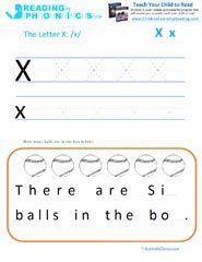 Teaching the Alphabet Letter X and the 'ks' Phonics Sound   Phonics ...