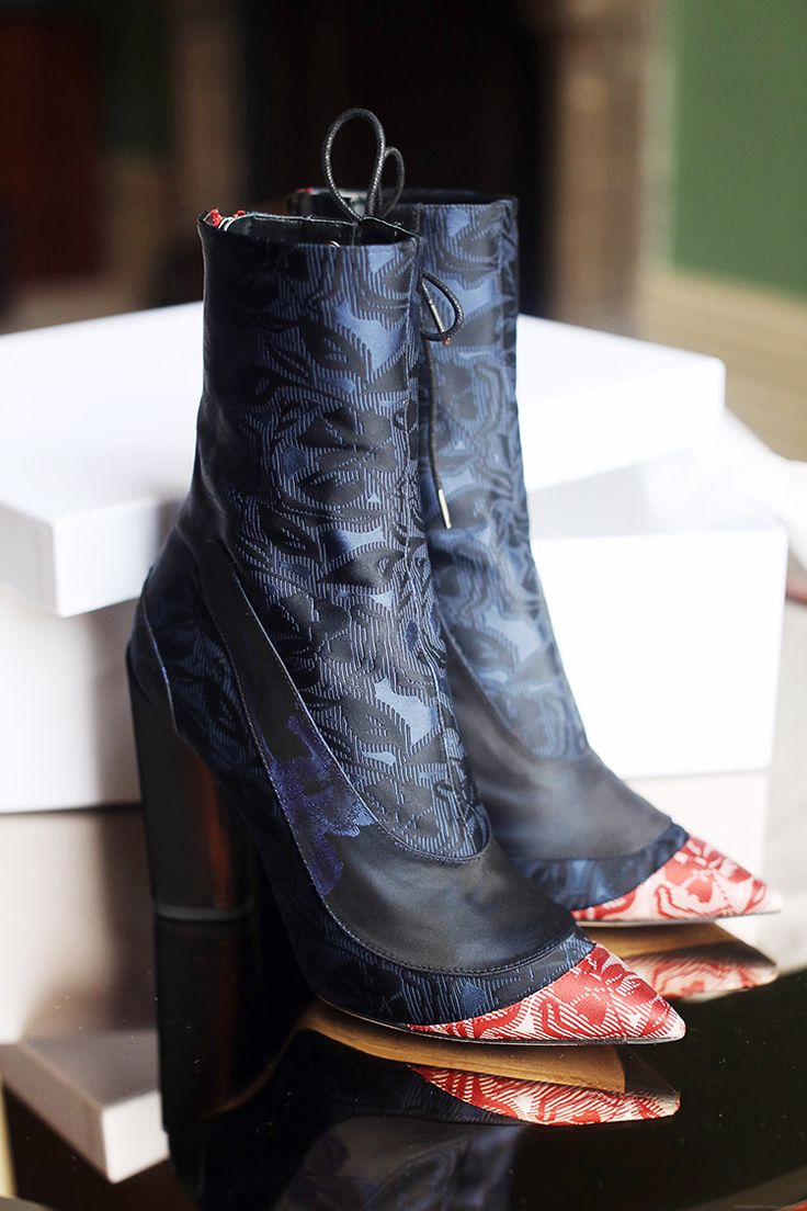 5 inch and up: Shoe of the Month: Dior Cruise Jacquard silk ankle boots