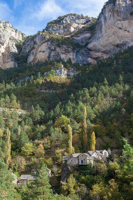 Le Rozier, La Sablière, Gorges du Tarn. France, Lozère, Le Rozier, hameau de La…