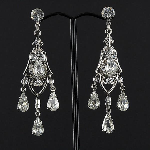 Teardrop Crystal/Diamante Earrings
