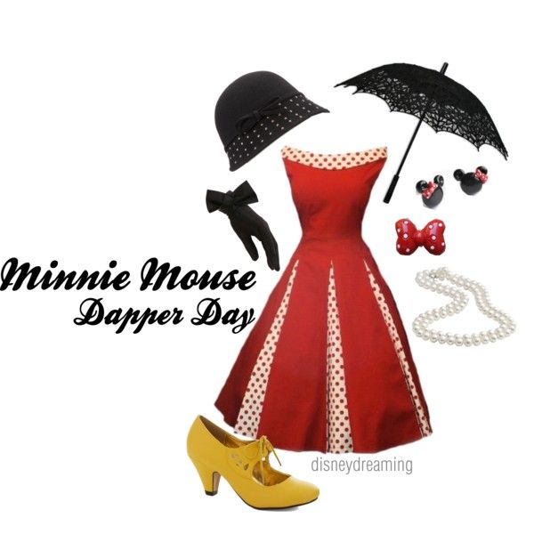 """""""Minnie Mouse Dapper Day"""" by em-ily-ann on Polyvore"""