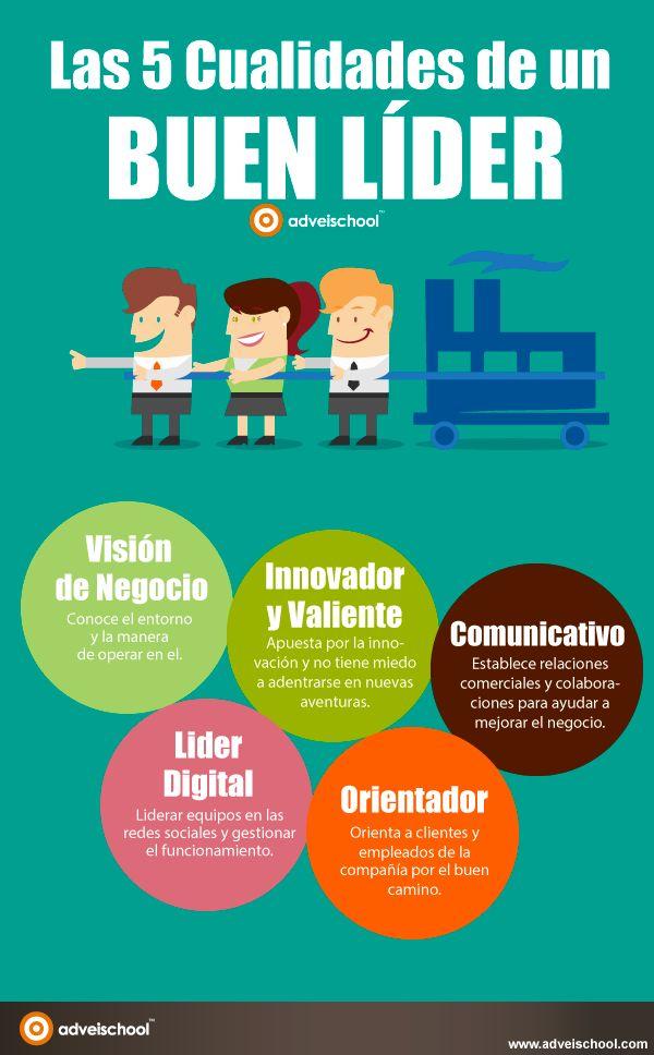 5 cualidades de un buen líder #infografia #infographic #leadership