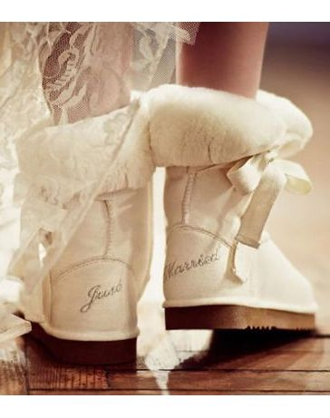 Wedding uggs....on the way to the airport... Not to mention the honeymoon in veil!