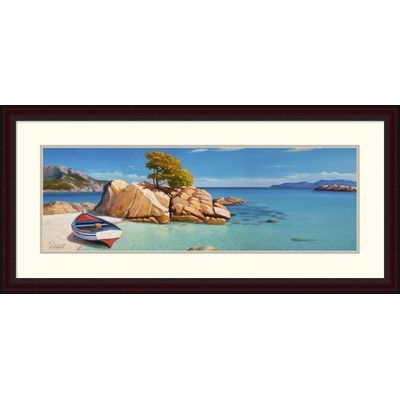 Global Gallery 'Alba Sulla Spiaggia' by Adriano Galasso Framed Graphic Art