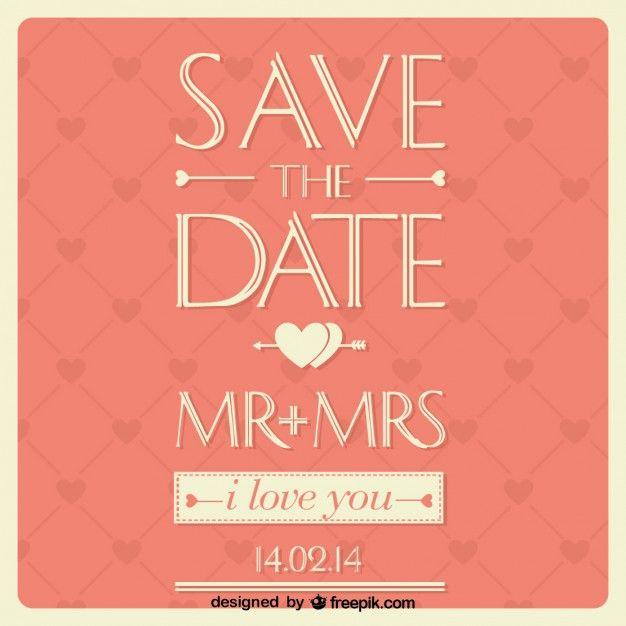 Wedding card typographic design
