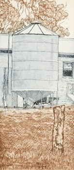 Silo - Kevin Foley Etching and Aquatint 2011 $250.00 Available at www.cascadeprintroom.com.au