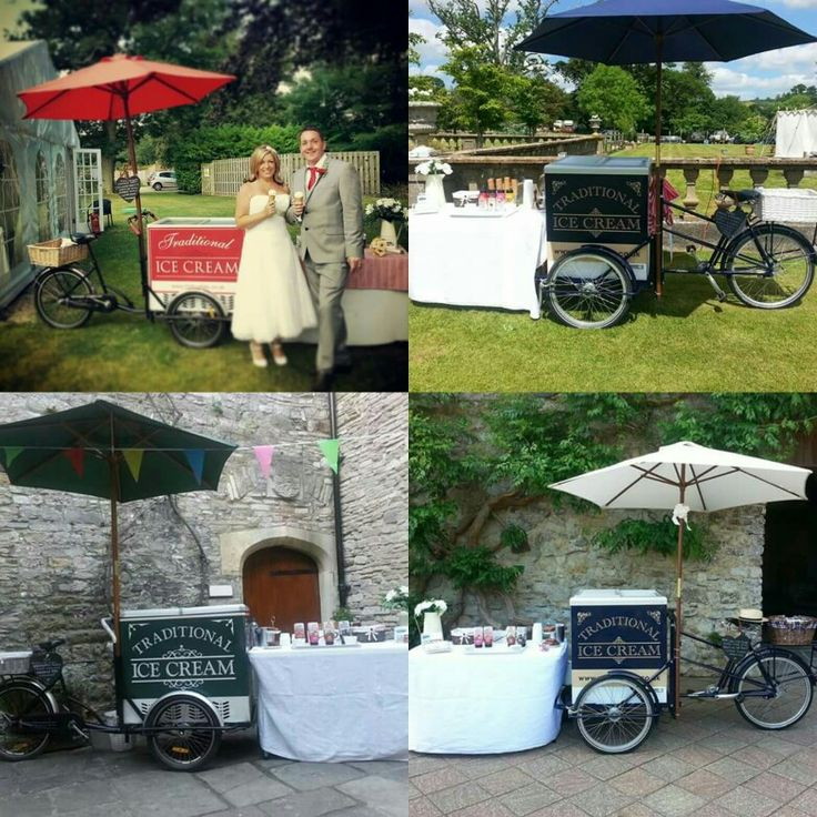 Ice Cream Tricycles available to hire for Weddings, Parties & Events in Hampshire, Dorset, London, Wiltshire & Surrounding areas