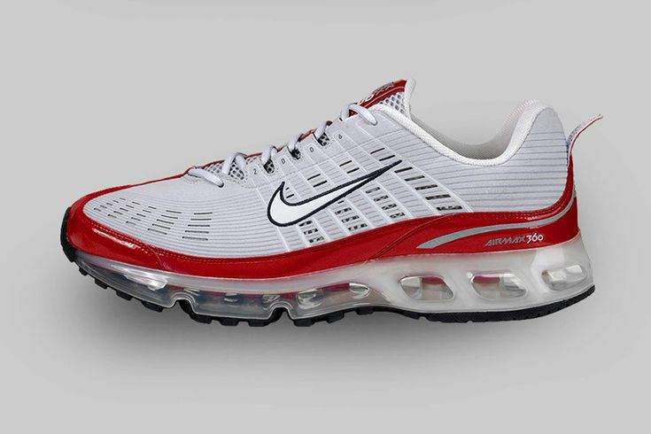 "Nike Air Max 360 – 2006 The AM 360 realized Nike's initial vision of running completely on Air with a thermoformed Air unit and laser-cut upper. ""Nike Air Max 360 – 2006 The AM 360 realized Nike's initial vision of running completely on Air with a thermoformed Air unit and laser-cut upper."""