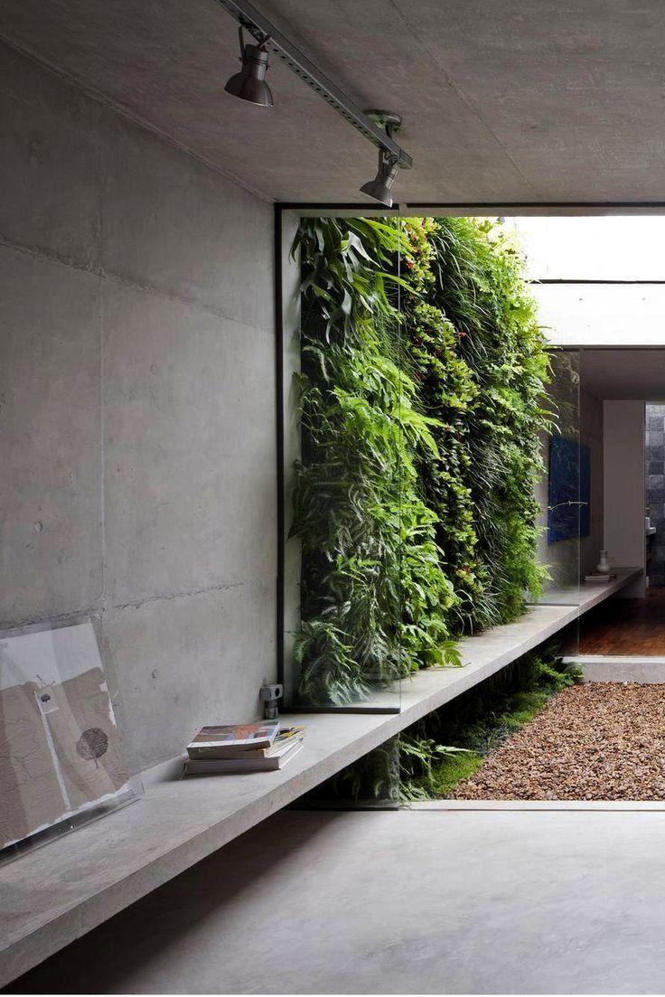 Concrete House Interior Design Ideas Wall Cement Cupboard Designs Shelves Architecture Patta Ams Green Wall Design Interior Architecture Design Exterior Design